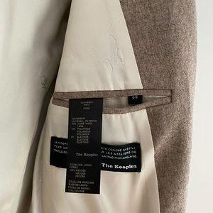 The Kooples Jackets & Coats - THE KOOPLES Cream/Light brown Wool Jacket 36 / S